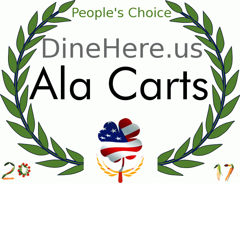 Ala Carts DineHere.us 2017 Award Winner